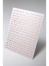 3D наклейки для дизайна ногтей №560 (розовое золото)
