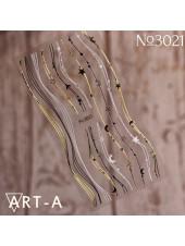 5D наклейки для дизайна ногтей 3021