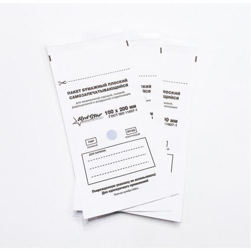 Крафт-пакеты Белые 100x200 Red Star 1 шт шт в Саратове