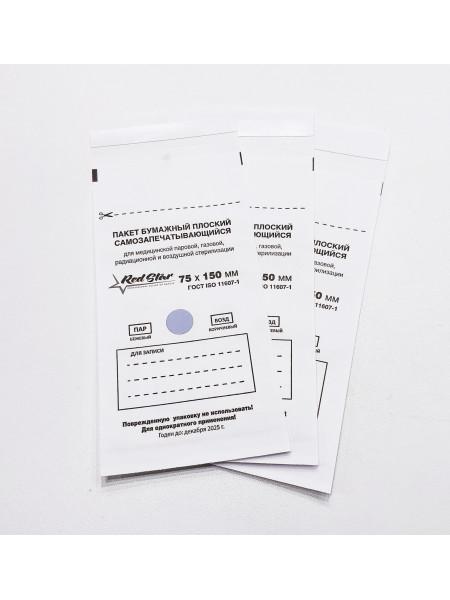 Крафт-пакеты Белые 75x150 Red Star 1 шт