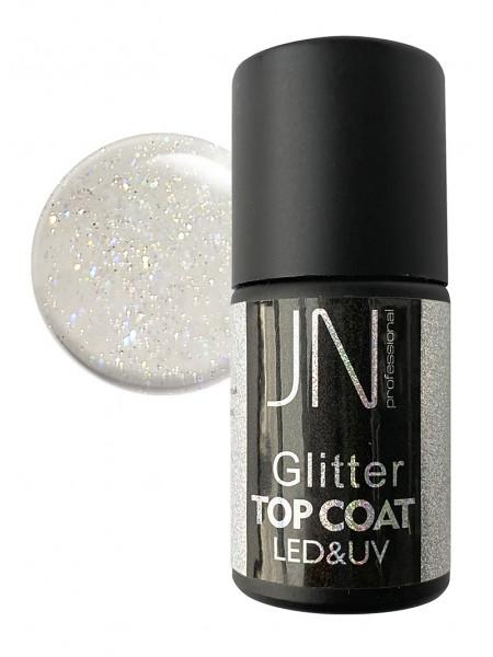 Топ для гель-лака JN Glitter Top Coat 10мл без липкого слоя №09