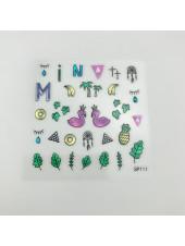 3D наклейки для дизайна ногтей №111
