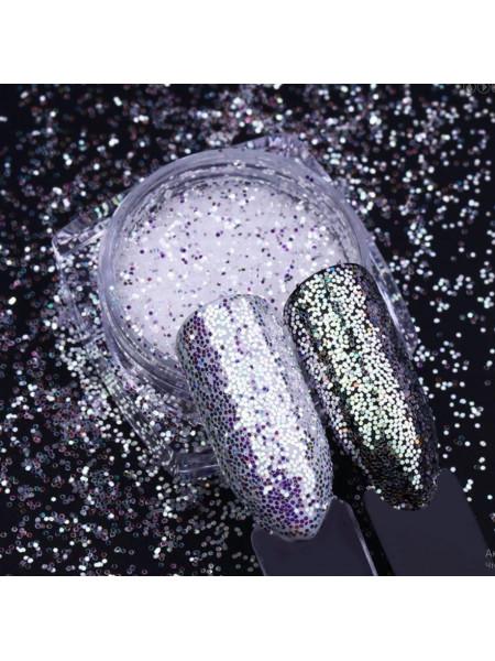 Дизайн для ногтей Зеркальный песок №2