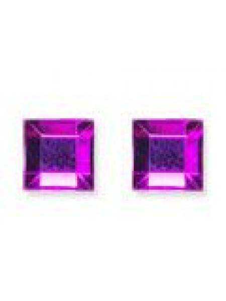 Стразы для ногтей квадрат 4мм. Purple Flare 10шт.
